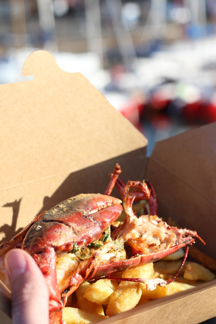 Lobster from the Lobster Shack, North Berwick