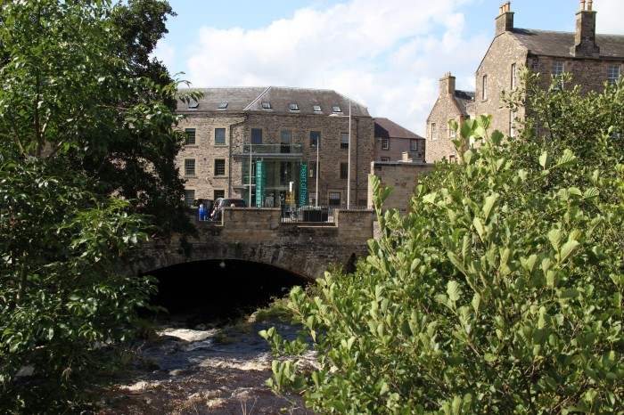 Scottish Borders Hawick Stone bridge historic town