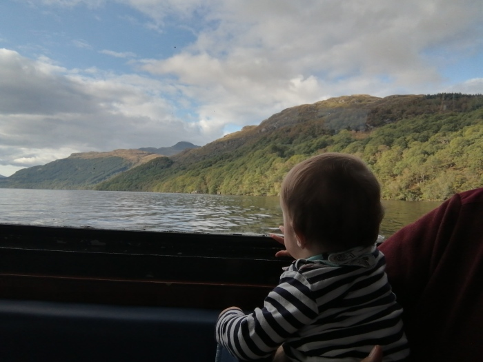 Loch Lomond mountains Scotland Baby stripy top