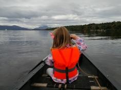 Loch Lomond Canoeing Daughter
