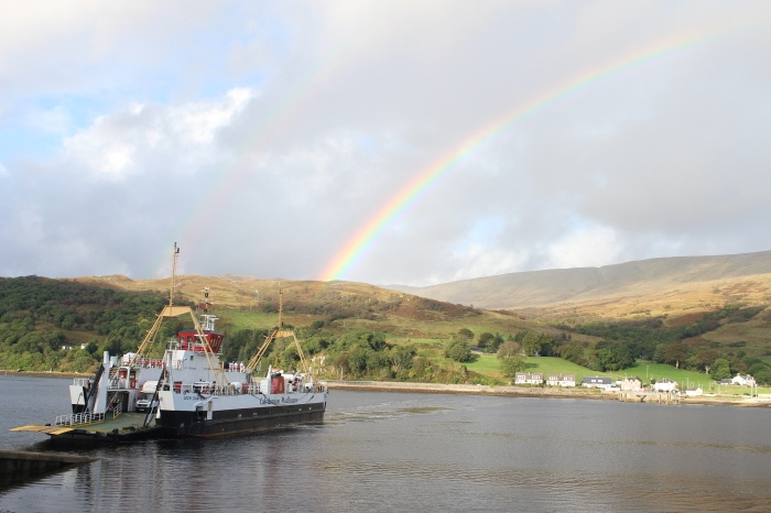 rainbow ferry landscape