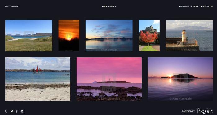 Webpage picfair landscape photography