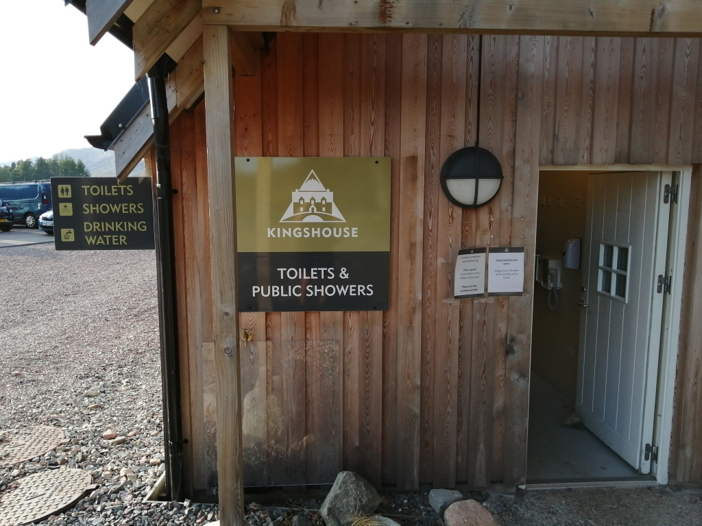 west highland way, scotland, kingshouse, toilet facilities, drinking water, showers, wooden structure