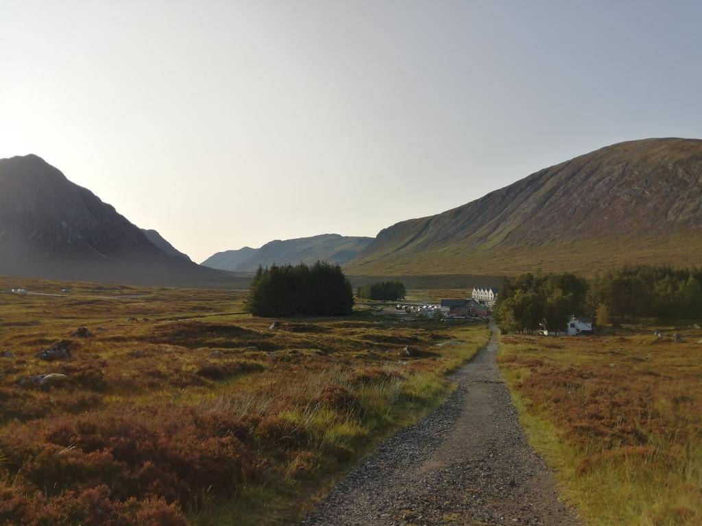 west highland way, scotland, glen coe, kingshouse hotel, mountain range, pathway, countryside