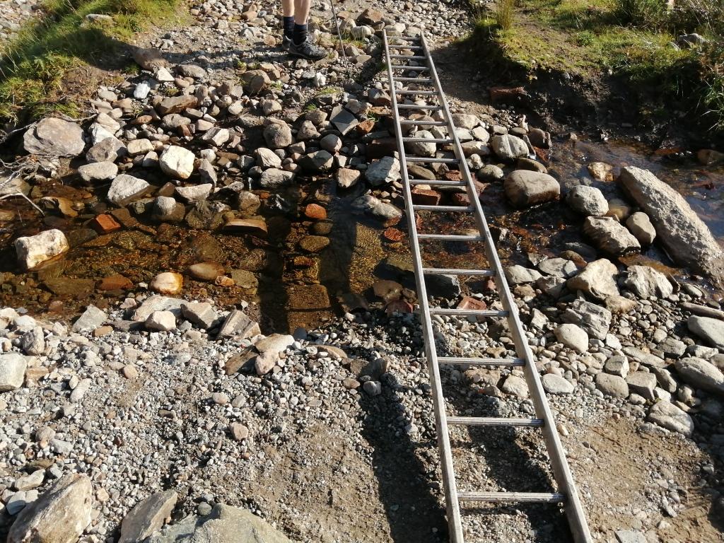 west highland way, scotland, ladder, small river