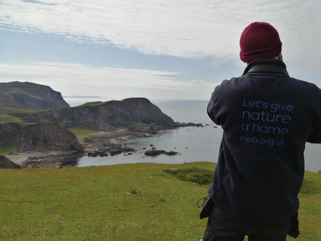 rspb, oa reserve, cliffs, landscape, open water, islay, scotland