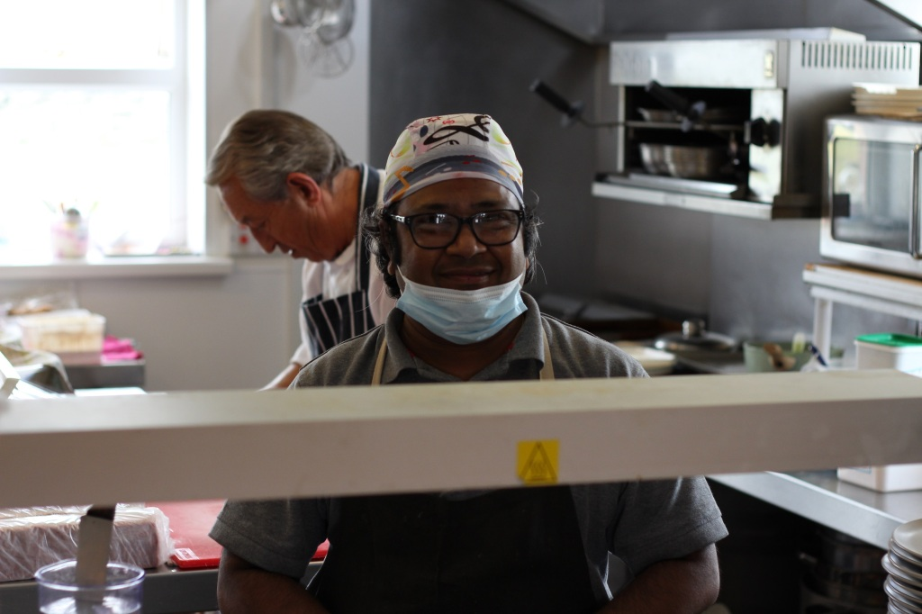 chef, kitchen, restaurant, food, port mor community cafe, islay, scotland